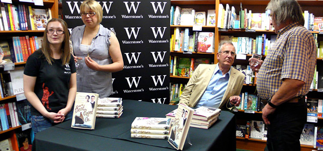 Author, Christopher Ward at Waterstones book signing